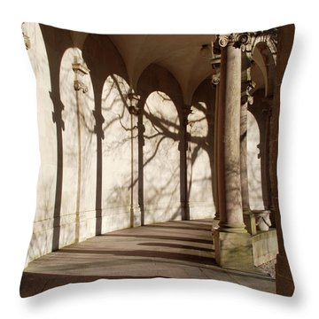 Throw Pillow featuring the photograph Shadows And Curves by Richard Bryce and Family