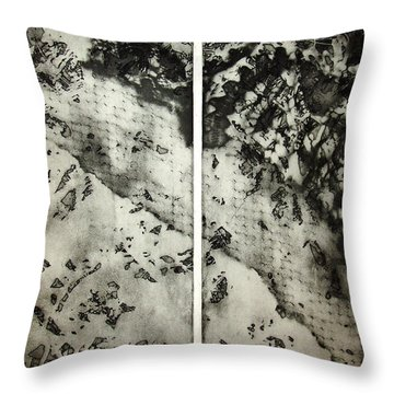 Shadows And Lace Throw Pillow by Nancy Mueller