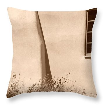 Throw Pillow featuring the photograph Shadows And Light In Santa Fe by Susie Rieple