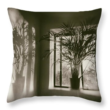 Shadows Dance Upon The Wall Throw Pillow