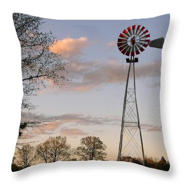 Throw Pillow featuring the photograph Shadows Fall  by Bonnie Willis
