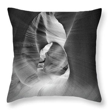 Shadows In Antelope Canyon Throw Pillow