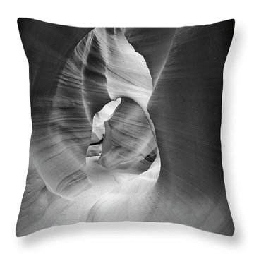 Shadows In Antelope Canyon Throw Pillow