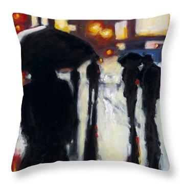 Shadows In The Rain Throw Pillow