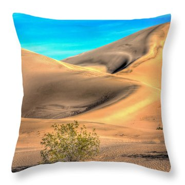 Shadows In The Sand Throw Pillow