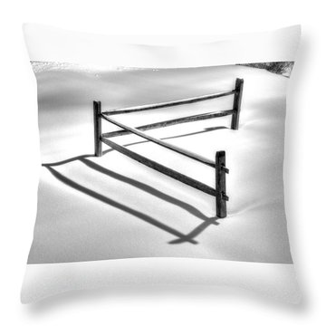 Shadows In The Snow - No. 1 Throw Pillow
