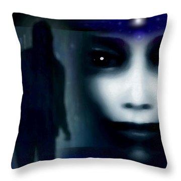 Shadows Of Fear Throw Pillow