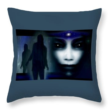 Shadows Of Fear Throw Pillow