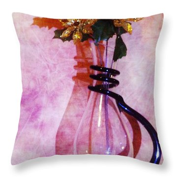 Shadows Of Gold Throw Pillow