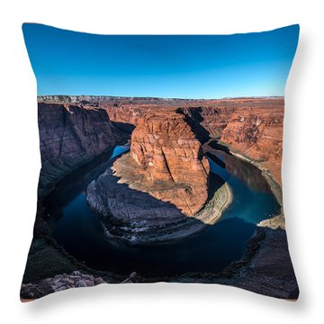 Shadows Of Horseshoe Bend Page, Arizona Throw Pillow