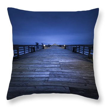 Shadows Of The Morning Throw Pillow