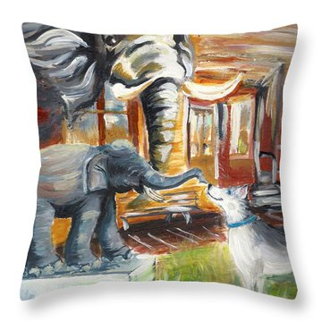 Shadows Of The Past , Hope For The Future Throw Pillow