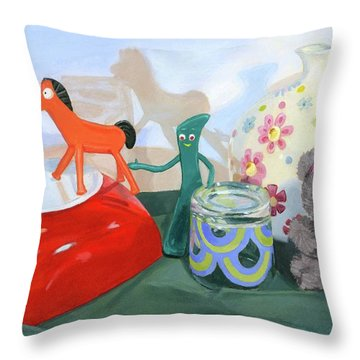 Shadows Of The Past Throw Pillow