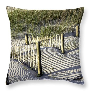 Shadows On The Dune Throw Pillow