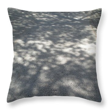 Shadows On The Ground Throw Pillow