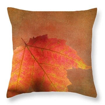 Shadows Over Maple Leaf Throw Pillow