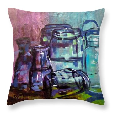 Shadows Through Glass Throw Pillow