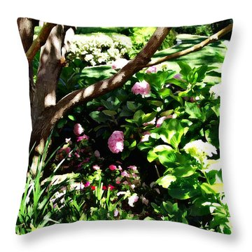 Throw Pillow featuring the photograph Shadows Through The Garden by Glenn McCarthy Art and Photography