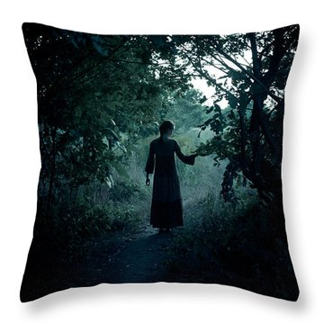Shadowy Path Throw Pillow by Cambion Art