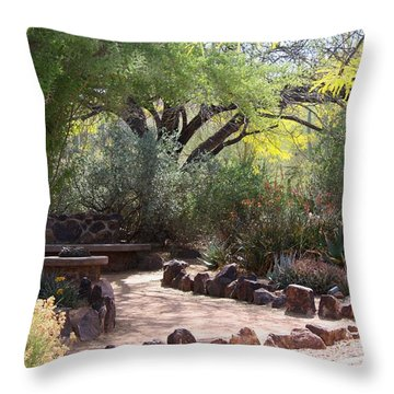 Shady Nook Throw Pillow by Kathryn Meyer