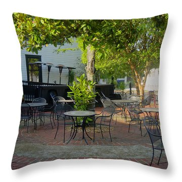 Shady Outdoor Dining Throw Pillow