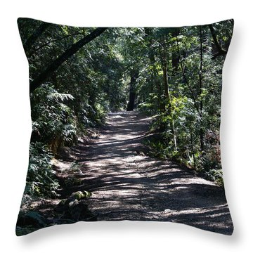 Throw Pillow featuring the photograph Shady Road On Mt Tamalpais by Ben Upham III