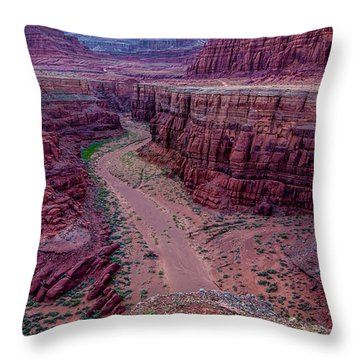 Shafer Canyon At Sunset - Moab - Utah Throw Pillow by Gary Whitton