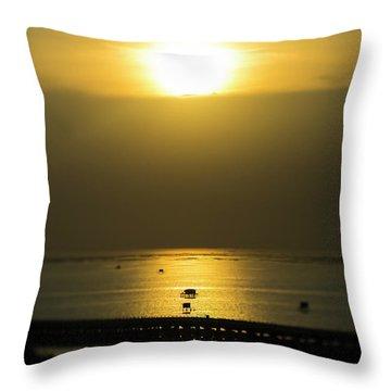 Shaft Of Gold Throw Pillow