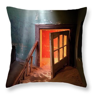 Shaft Of Light Throw Pillow