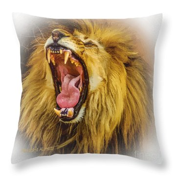 Stay Away From My Teeth Throw Pillow
