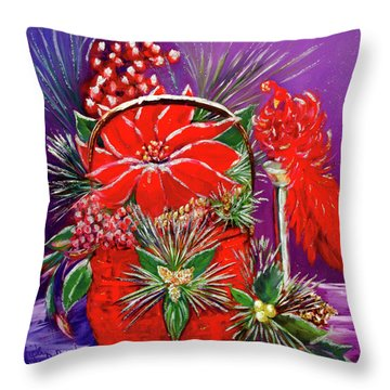 Shake Off The Snow, And Come On In Throw Pillow