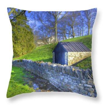 Shaker Stone Wall 6 Throw Pillow
