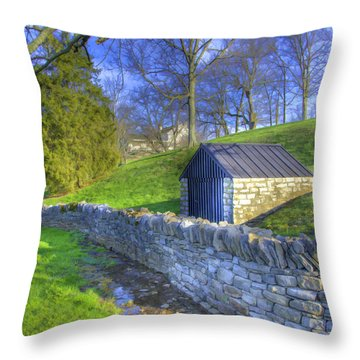 Shaker Stone Wall 6 Throw Pillow