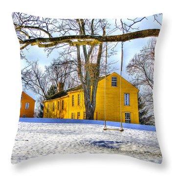 Shaker Swing In Winter 2 Throw Pillow