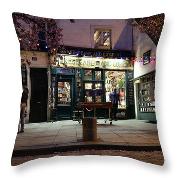 Throw Pillow featuring the photograph Shakespeare Book Shop 1 by Andrew Fare