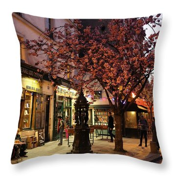 Throw Pillow featuring the photograph Shakespeare Book Shop 2 by Andrew Fare