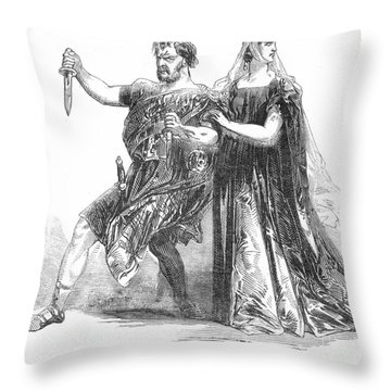 Shakespeare: Macbeth, 1845 Throw Pillow by Granger