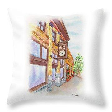 Shakespeare Time Throw Pillow