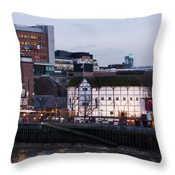 Throw Pillow featuring the photograph Shakespeare's Globe by David Isaacson