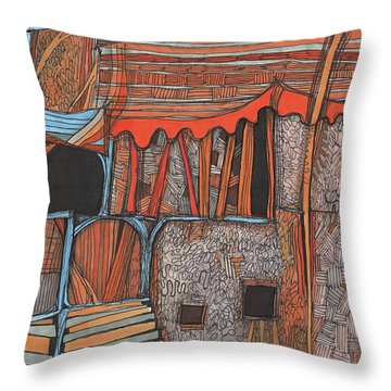 Shaky Place Throw Pillow by Sandra Church