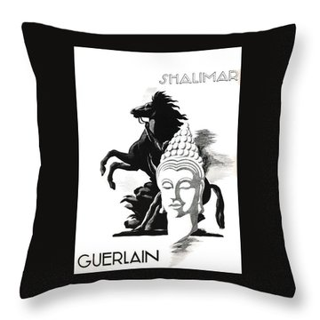 Throw Pillow featuring the digital art Shalimar by ReInVintaged