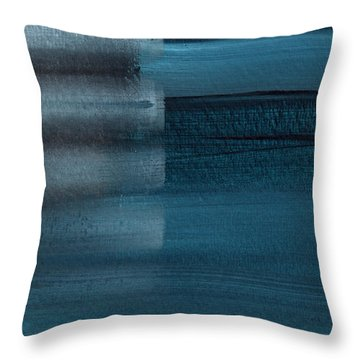Shallow- Abstract Art By Linda Woods Throw Pillow