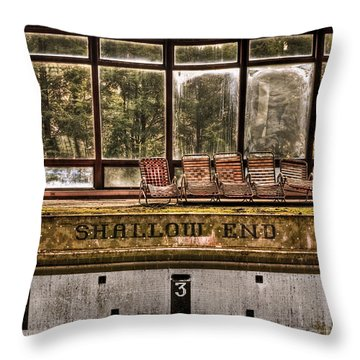 Shallow End Throw Pillow by Evelina Kremsdorf