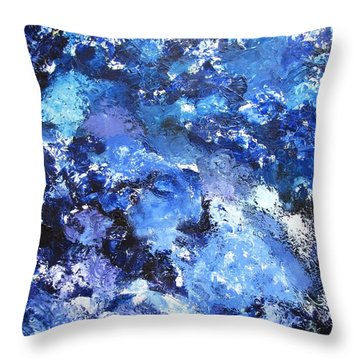 Shallow Water Throw Pillow by Gary Smith