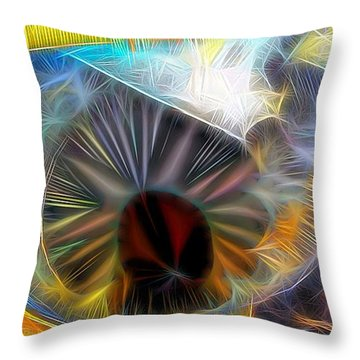 Throw Pillow featuring the digital art Shallow Well by Ron Bissett
