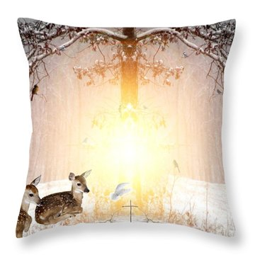 Shalom Throw Pillow by Bill Stephens