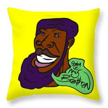 Shalom Brethren Throw Pillow