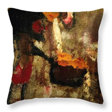Shaman Alchemist Throw Pillow