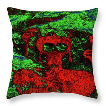 Shaman And Helper Throw Pillow by David Lee Thompson