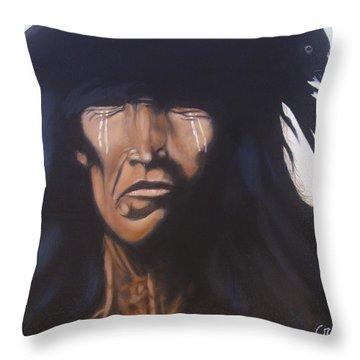 Shaman Throw Pillow by Jean Yves Crispo